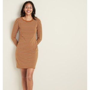 Fitted Bracelet-Sleeve Tee Dress for Women small